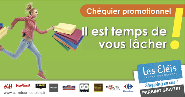 Chequier promo promotions centre commercial Carrefour les eleis cherbourg