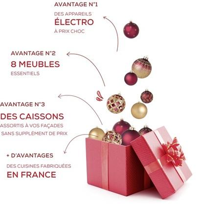 offres promotionnelles chez Cuisinella à terre Ciel à Chelles, promotion, cadeau, noel