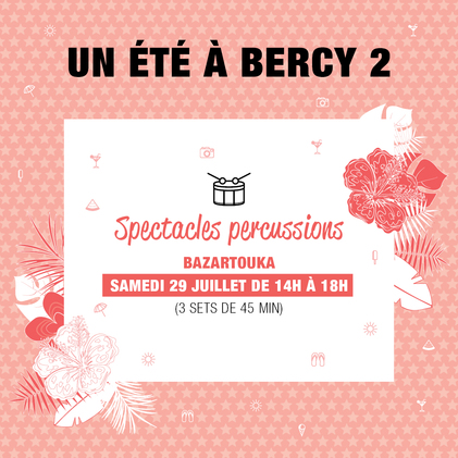 spectacles de percussions, centre commercial bercy 2, atelier, shopping