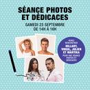 séance photos et dédicaces avec 4 star de télé réalité à Bercy 2