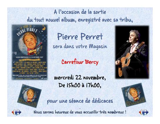 séance dédicaces Pierre Perret au Carrefour Bercy 2