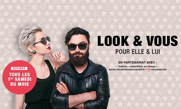 Look & Vous conseils gratuits en image, maquillage, coiffure et pose de vernis à Bercy 2