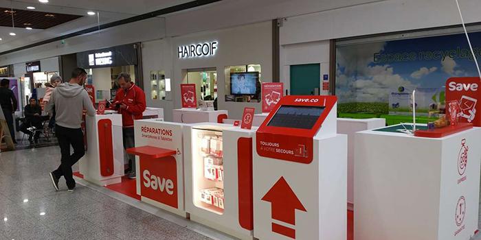 Save réparation smartphone centre commercial ile napoleon