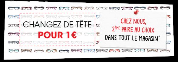 Generalé d'Optique à Bercy 2 - 2e paire à 1euro
