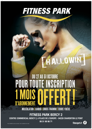offre fitness park hallowin