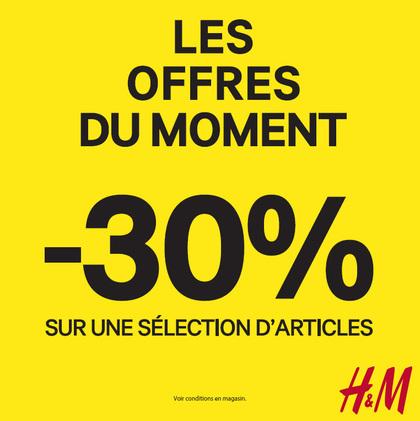 H&M les offres du moments à Bercy 2