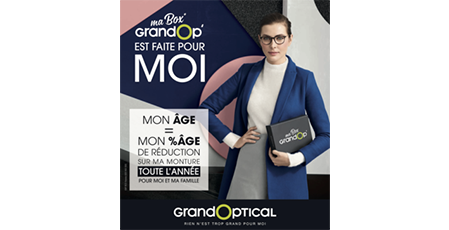 Offre ma box grandop' chez grand optical à bercy 2