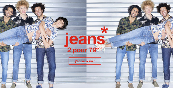 Offre jeans chez Celio à Bercy 2 à Charenton le Pont