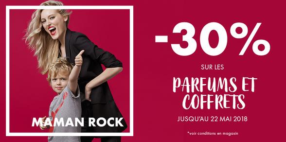 Offre Maman Rock pour la fête des mères chez Marionnaud à Bercy 2 à Charenton le Pont