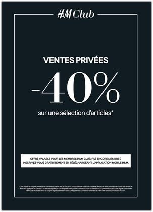 ventes privées H&M Club à Bercy 2 à Charenton Le Pont