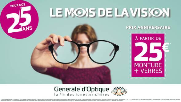 promotions Mois de la vision chez Générale d'Optique à Terre Ciel à Chelles