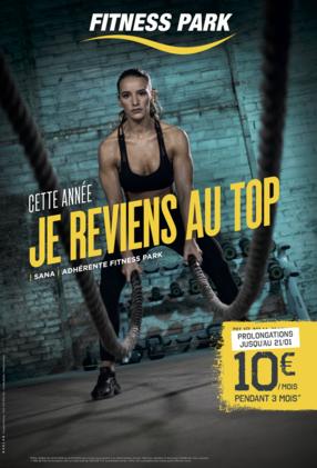 Jusqu'au 21 Janvier, votre abonnement chez Fitness Park Bercy 2 est à 10 euros par mois pendant 3 mois.