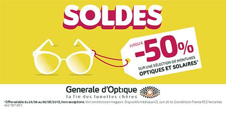 Générale D'Optique soldes Terre Ciel Centre Commercial Shopping