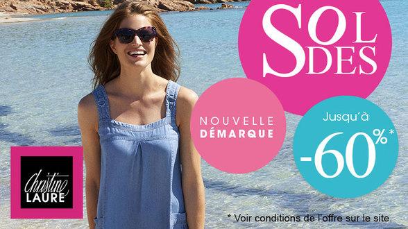 Jusqu'au 6 août, votre boutique Christine Laure vous propose jusqu'à -60%
