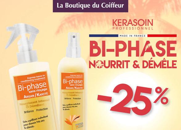 Profitez vite de 25% de remise immédiate sur le Bi-Phase Argan karité de la marque Kerasoin !