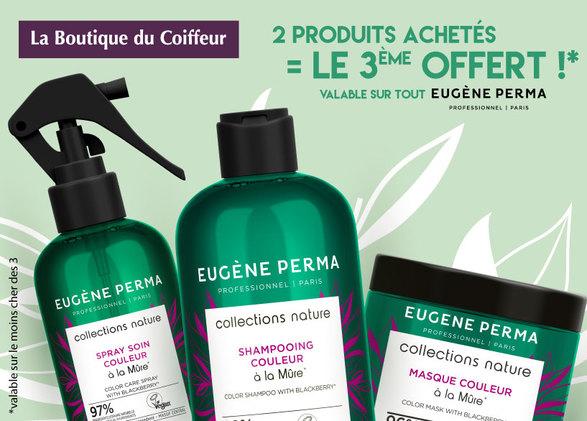 Eugène Perma – 2 produits achetés = le 3ème OFFERT