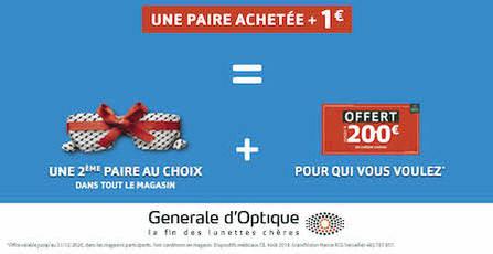 Pour une paire de lunettes achetée + 1 €, bénéficiez une deuxième monture à Bercy 2 à Charenton le Pont